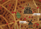 Artifact Puzzles - Vladstudio Paris Map Wooden Jigsaw Puzzle