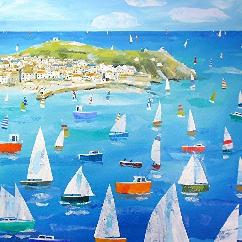 Artifact Puzzles - Claire Henley Sailing Round the Mount Wooden Jigsaw Puzzle