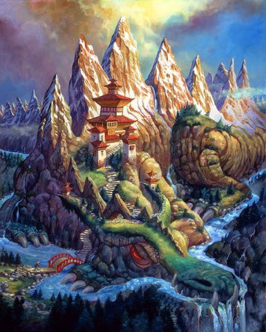 Artifact Puzzles - Barnard Dragon Mountain Wooden Jigsaw Puzzle