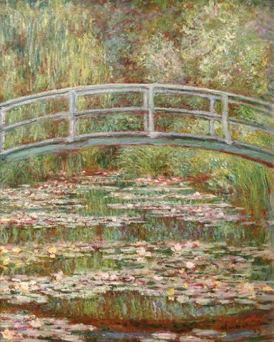 Artifact Puzzles - Monet Bridge Wooden Jigsaw Puzzle