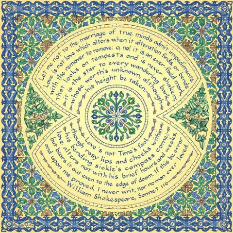 Artifact Puzzles - Susan Loy Shakespeare Marriage of True Minds Sonnet Wooden...