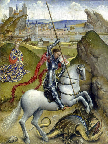 Ecru Puzzles - Rogier Van der Weyden Saint George and The Dragon Wooden Jigsaw Puzzle