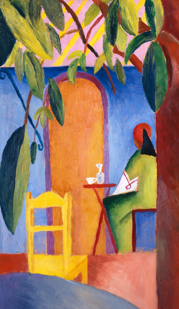 Artifact Puzzles - August Macke Turkish Cafe Wooden Jigsaw Puzzle