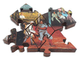 Artifact Puzzles - Morris Kantor Baseball at Night Wooden Jigsaw Puzzle