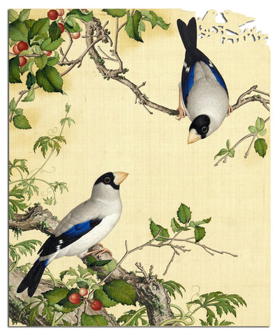 Artifact Puzzles - Giuseppe Castiglione Birds and Cherries Wooden Jigsaw Puzzle