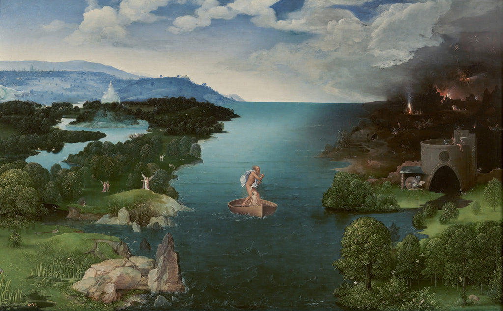 Artifact Puzzles - Joachim Patinier Crossing the River Styx Wooden Jigsaw Puzzle