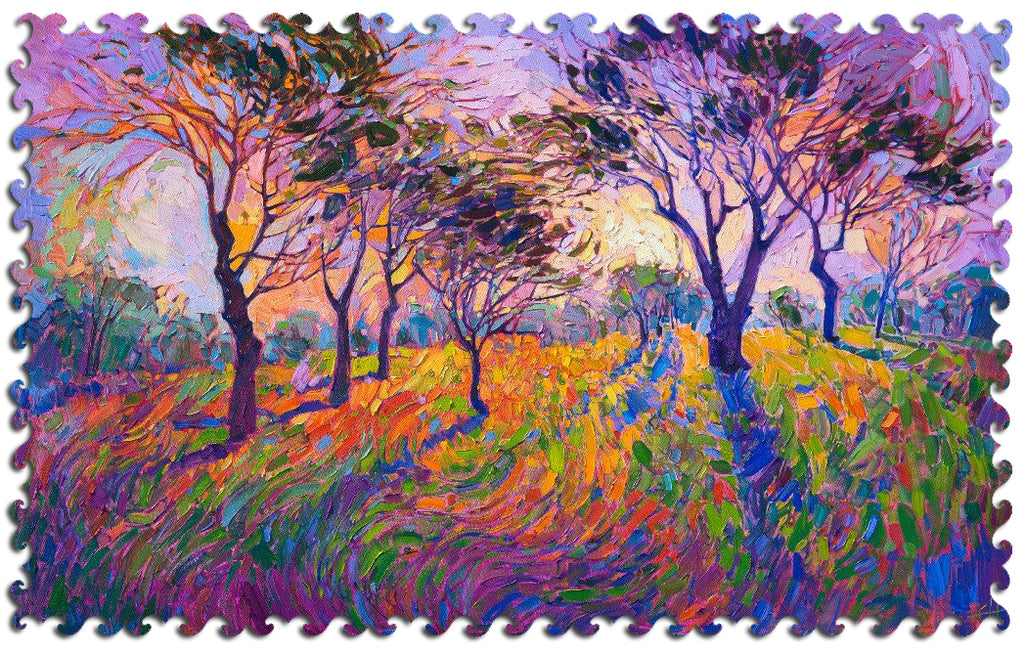 Artifact Puzzles - Erin Hanson Crystal Grove Wooden Jigsaw Puzzle