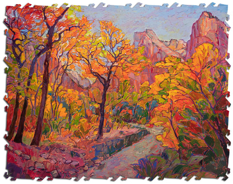 Ecru Puzzles - Erin Hanson Hues of Zion Wooden Jigsaw Puzzle