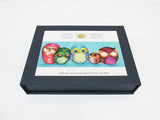 Artifact Puzzles - Annya Kai Fabric Owls Wooden Jigsaw Puzzle