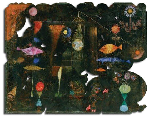 Artifact Puzzles - Paul Klee Fish Magic Wooden Jigsaw Puzzle