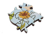 Artifact Puzzles - Paul Ranson Flowers Double-Sided Wooden Jigsaw Puzzle