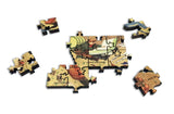 Artifact Puzzles - William Gropper Folklore Map Wooden Jigsaw Puzzle