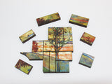 Artifact Puzzles - Egon Schiele Four Trees Wooden Jigsaw Puzzle