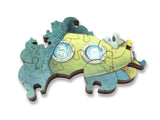 Ecru Puzzles - Kristian Adam Galapalooga Bay Wooden Jigsaw Puzzle