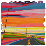 Ecru Puzzles - Grant Haffner Sunset on Old Montauk Highway Wooden Jigsaw Puzzle