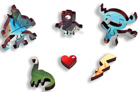 Artifact Puzzles - Justin Hillgrove Imps and Monsters Wooden Jigsaw Puzzle