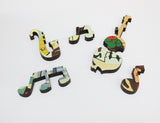 Artifact Puzzles - Jim Flora Jazz Quintet Wooden Jigsaw Puzzle