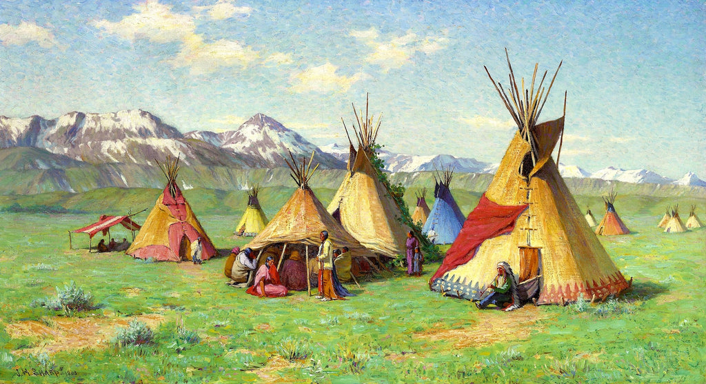 Artifact Puzzles - Joseph Henry Sharp Medicine Teepee Wooden Jigsaw Puzzle