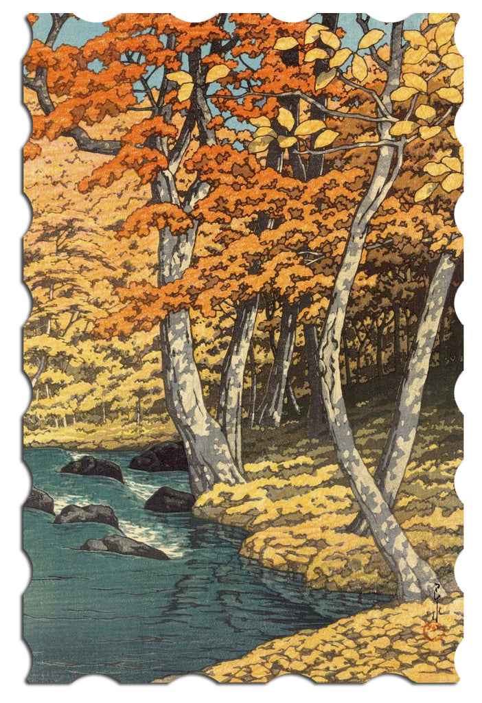 Ecru Puzzles - Kawase Hasui Fall Wooden Jigsaw Puzzle