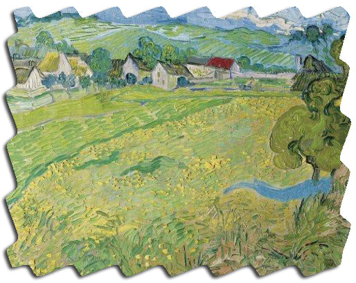 Artifact Puzzles - Van Gogh Landscapes Double-Sided Wooden Jigsaw Puzzle