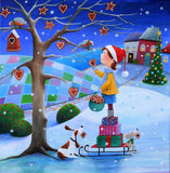 Artifact Puzzles - Iwona Lifsches Merry Christmas Wooden Jigsaw Puzzle