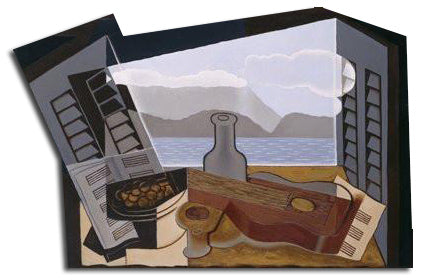 Artifact Puzzles - Juan Gris Open Window Wooden Jigsaw Puzzle