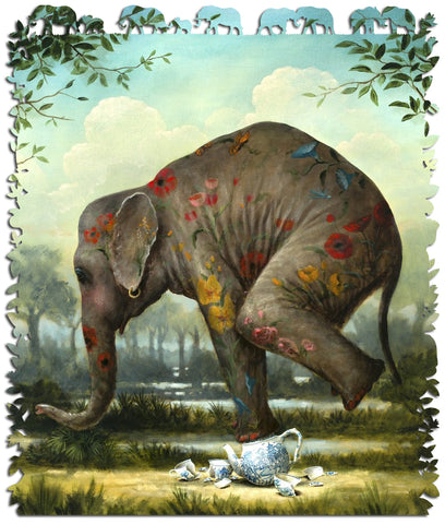Artifact Puzzles - Kevin Sloan Our Gentle Giant Wooden Jigsaw Puzzle