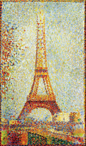 Artifact Puzzles - Seurat Eiffel Tower Wooden Jigsaw Puzzle