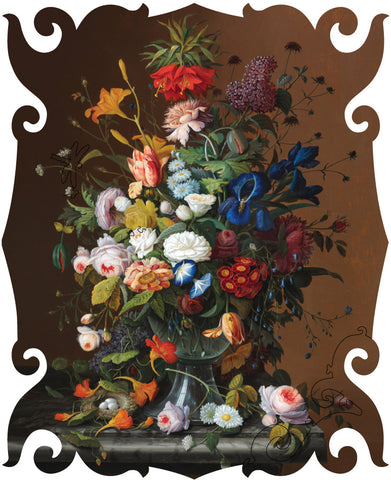 Artifact Puzzles - Severin Roesen Flower Still Life Wooden Jigsaw Puzzle