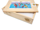 Artifact Puzzles - Angie Rees The Skating Party Wooden Jigsaw Puzzle