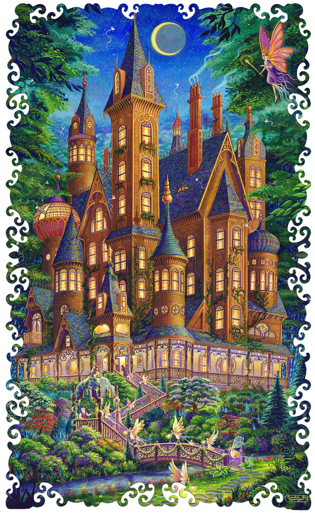 Artifact Puzzles - Randal Spangler Some Enchanted Evening Wooden Jigsaw Puzzle