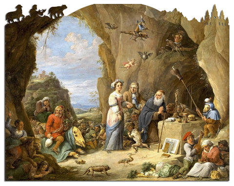Artifact Puzzles - David Teniers Temptation of St. Anthony Wooden Jigsaw Puzzle