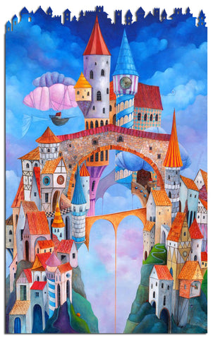 Artifact Puzzles - Tomasz Pietrzyk The Town Wooden Jigsaw Puzzle