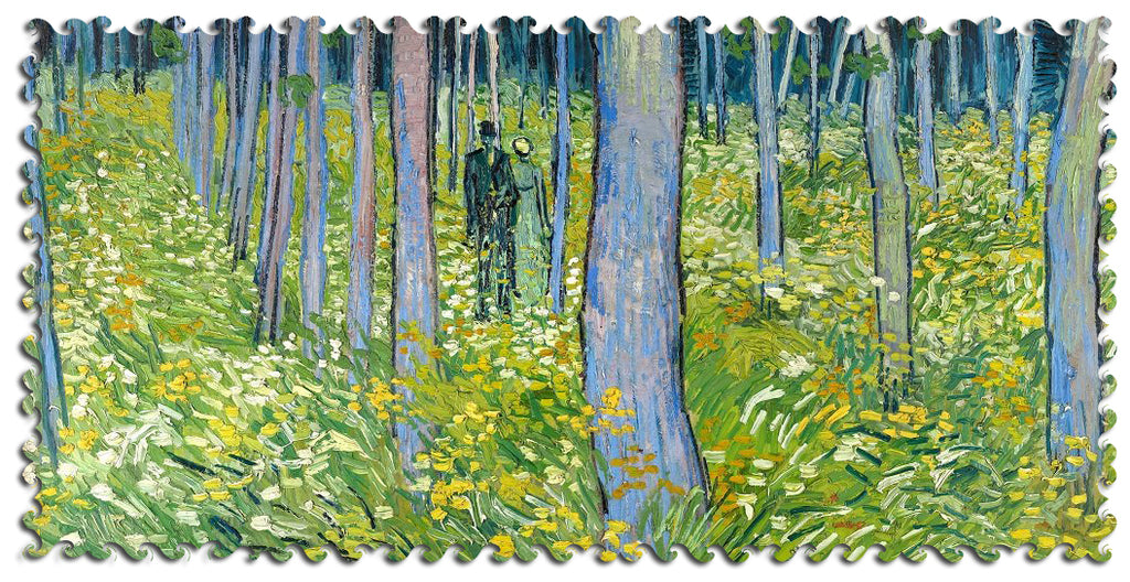 Artifact Puzzles - Van Gogh Undergrowth with Two Figures Wooden Jigsaw Puzzle