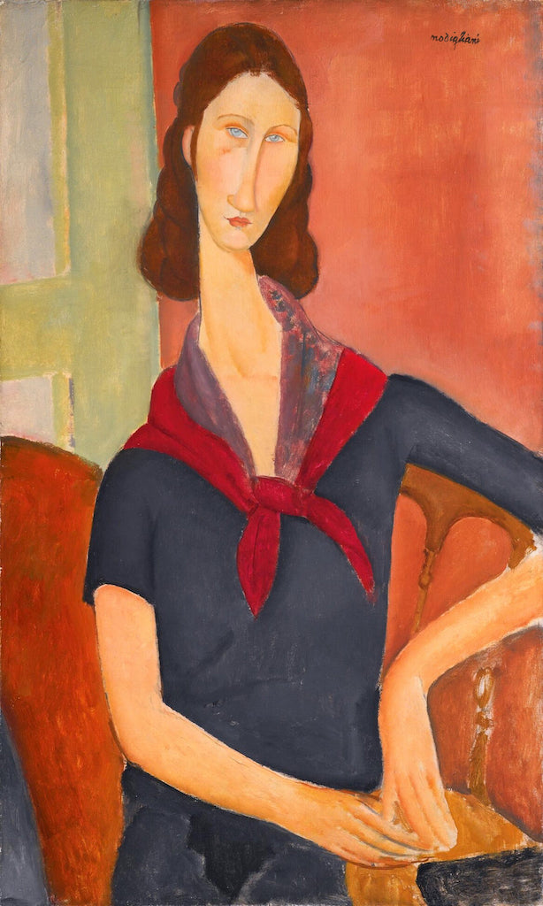 Artifact Puzzles - Amedeo Modigliani Red Scarf Wooden Jigsaw Puzzle