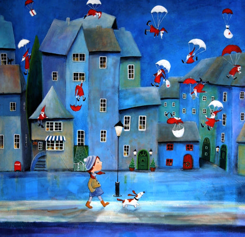 Artifact Puzzles - Iwona Lifsches Santa Claus Delivery Wooden Jigsaw Puzzle
