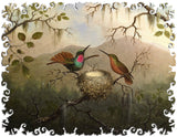 Artifact Puzzles - Martin Heade Two Hummingbirds at Nest Wooden Jigsaw Puzzle