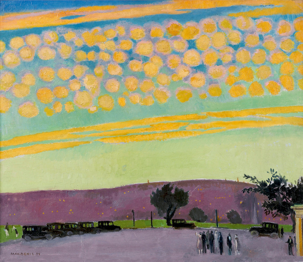 Ecru Puzzles - Maurice Denis Pittsburgh Sunset Wooden Jigsaw Puzzle