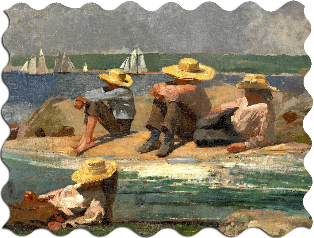 Ecru Puzzles - Winslow Homer Watching The Tide Wooden Jigsaw Puzzle