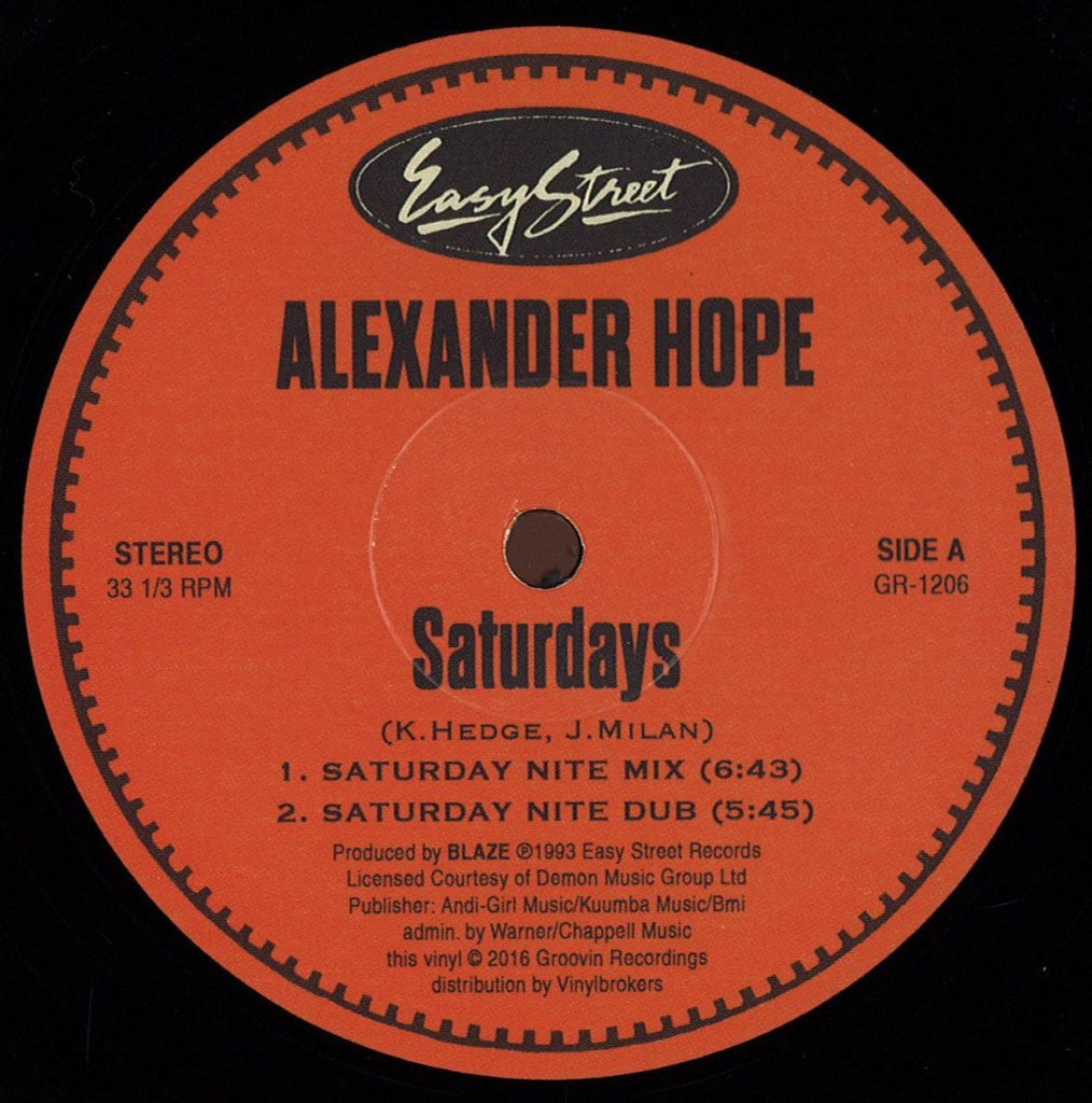 Alexander Hope ‎– Saturdays / Let The Music Take You