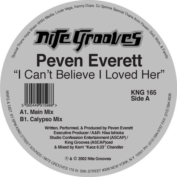Peven Everett ‎– I Can't Believe I Loved Her