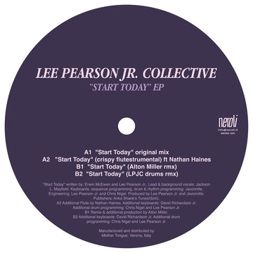 Lee Pearson Jr. Collective - Start Today EP