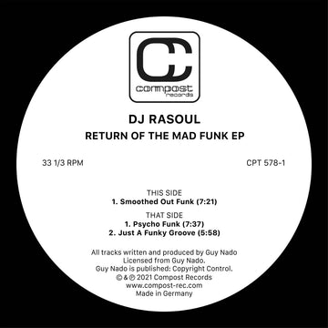 DJ RASOUL - Return Of The Mad Funk EP (PRE-ORDER)