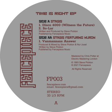 Stasis - Time is Right EP (PRE-ORDER)