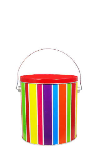 1-Gallon Everyday Stripes Tin