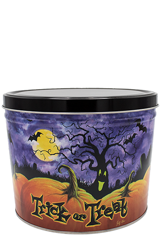 2-Gallon Spooky Trees Tin