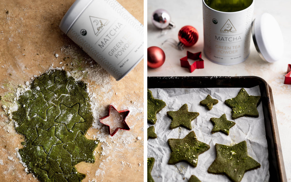 Matcha Christmas Tree Cookies