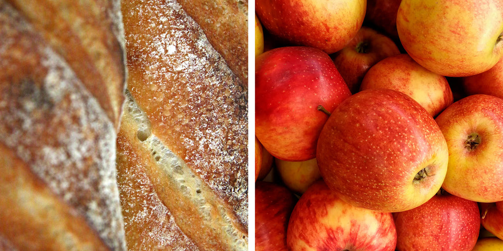 Bread and apples