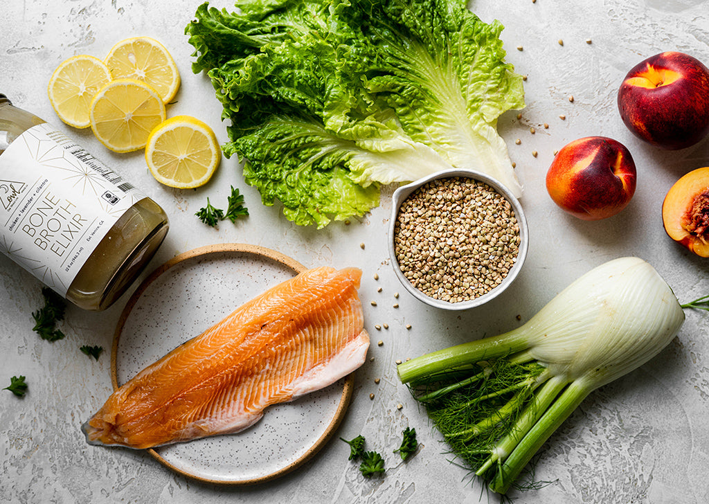 Ingredients for Buckwheat & Fennel Salad with Slow Roasted Trout