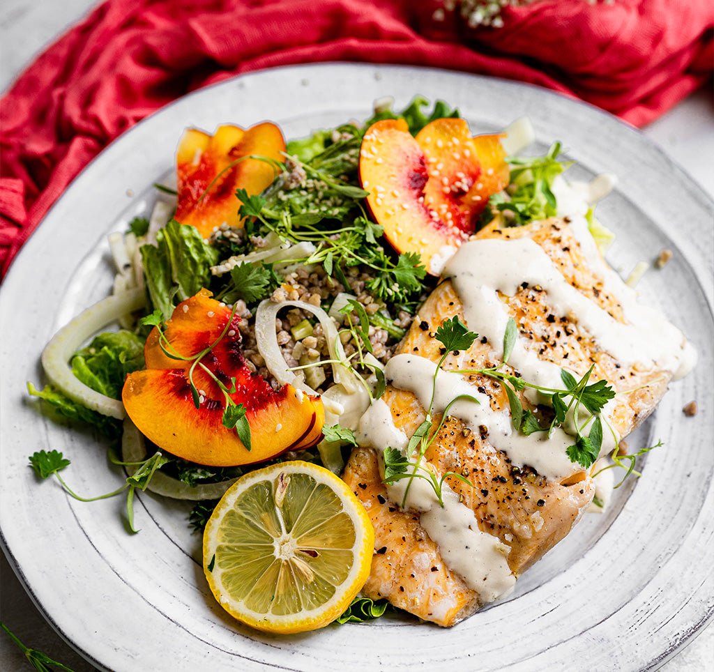 Buckwheat & Fennel Salad with Slow Roasted Trout